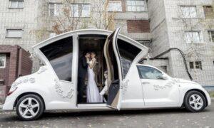 A Wedding Hearse Car