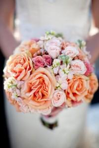 Coral Spring Wedding Flowers