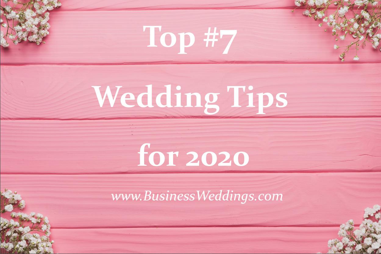 Wedding Tips 2020