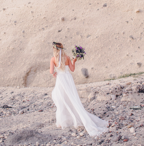 Boho Wedding Dress Greek style