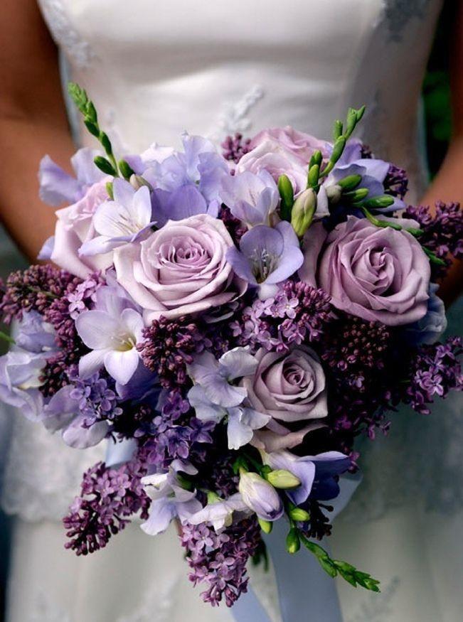 Purple Wedding Bouquets