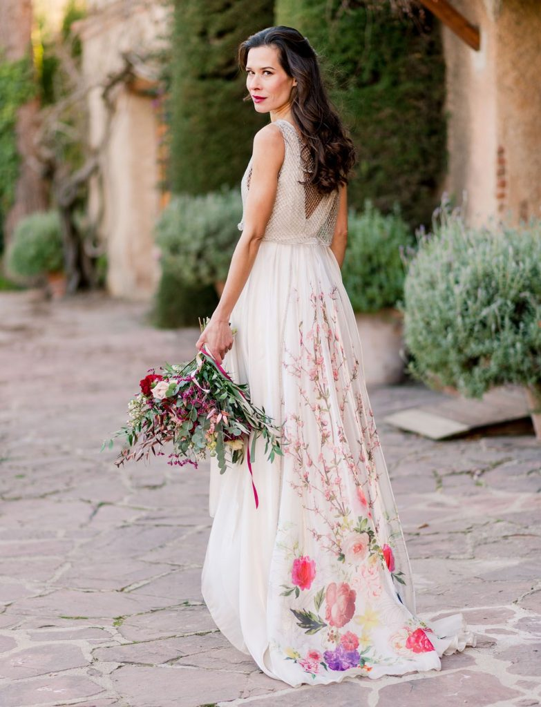 bohemian flower wedding dresses available today